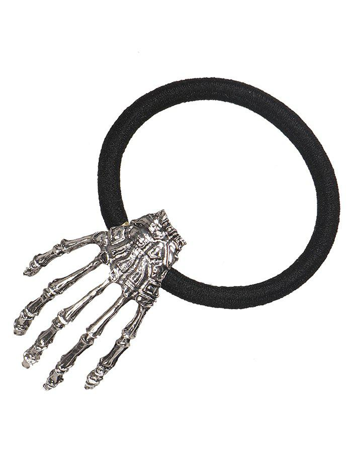 Halloween Skeleton Hand Elastic Hair Band - SILVER