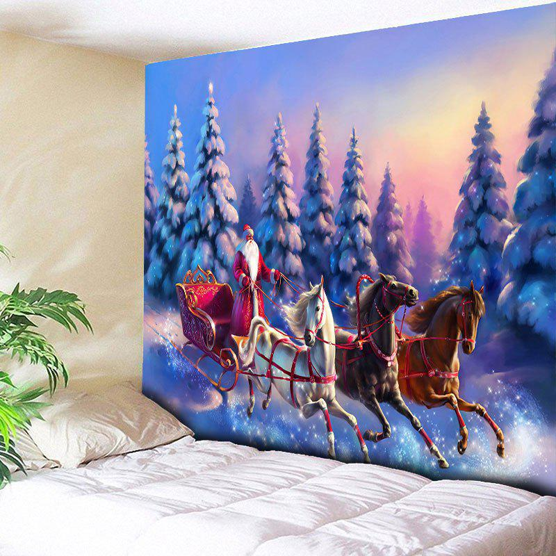 Christmas Sled Pattern Wall Hanging Tapestry waterproof merry christmas graphic pattern wall hanging tapestry