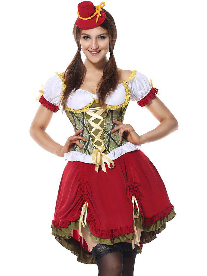 Oktoberfest Cosplay Costume - RED L