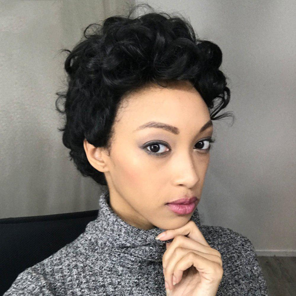 Short Adiors Fluffy Curly Side Parting Synthetic Wig