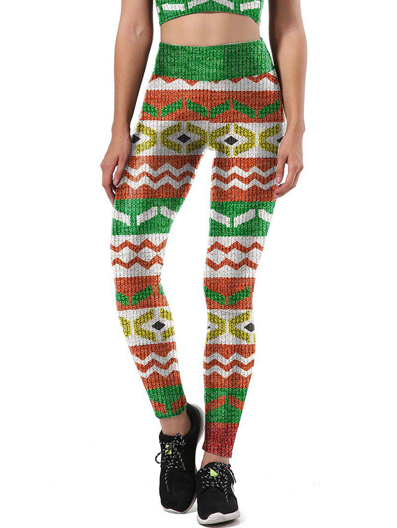 Print Christmas Party Leggings - COLORMIX XL
