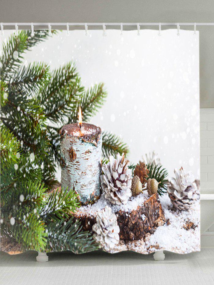 Christmas Tree Snowfield Print Waterproof Bathroom Shower Curtain christmas tree letter print waterproof shower curtain