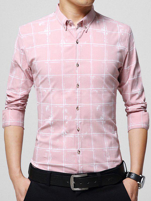 Chemise Checked Casual - ROSE PÂLE 4XL