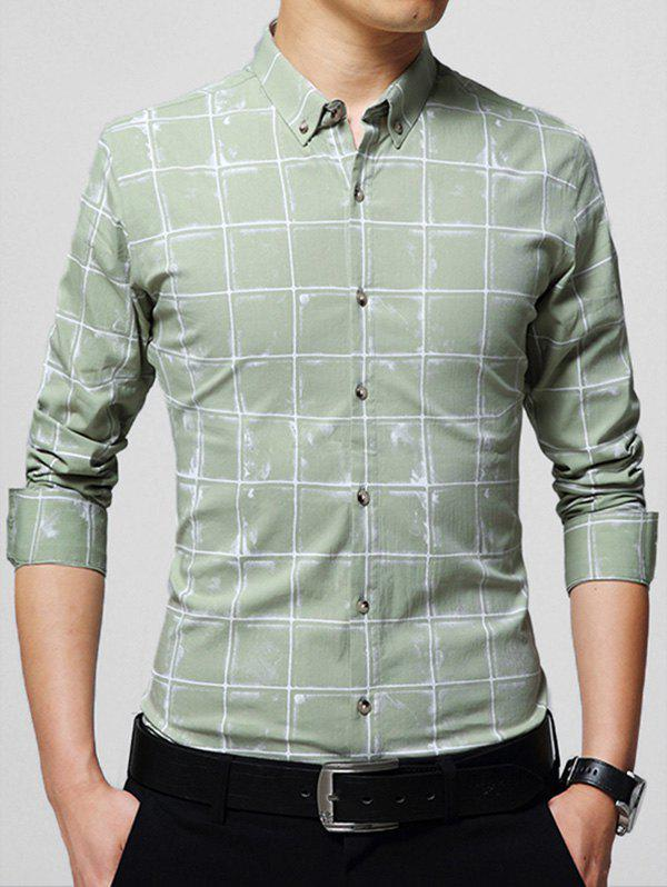 Chemise Checked Casual - Pois Verts 5XL