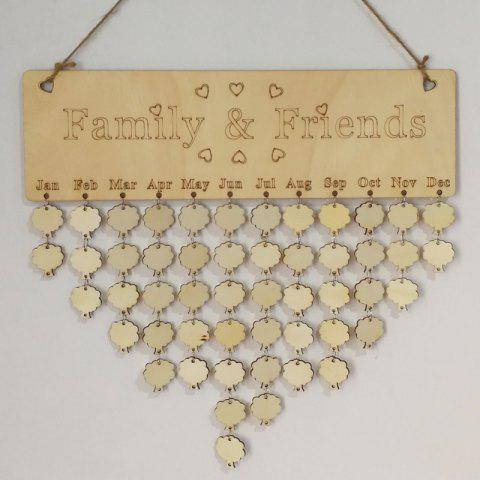 DIY Wooden Family And Friends Birthday Calendar - TREE
