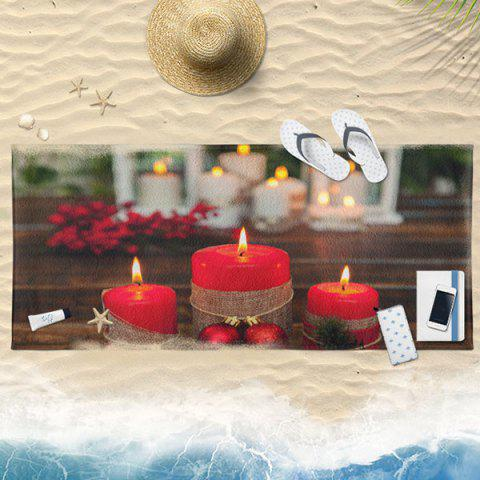 Water Absorption Christmas Candle Bath Towel - COLORMIX 75*150CM