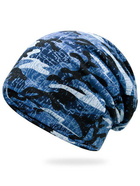 Outdoor Camo Pattern Slouchy Beanie - MARINE CAMOUFLAGE