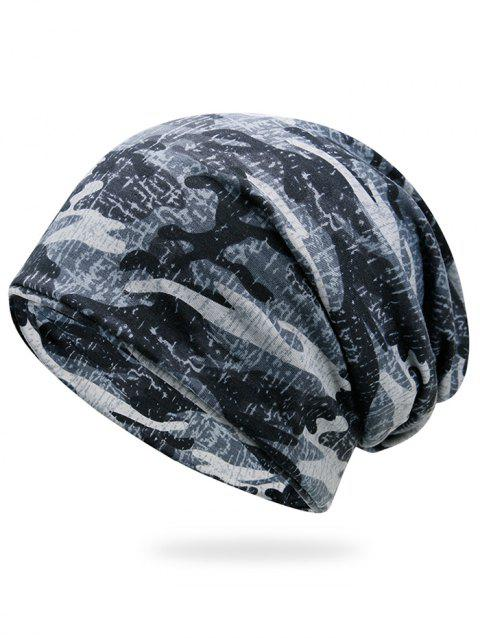 Outdoor Camo Pattern Slouchy Beanie - SNOW LAND CAMOUFLAGE