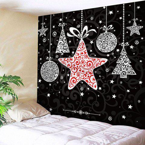 Waterproof Christmas Stars Gift Pattern Wall Art Tapestry - COLORMIX W59 INCH * L59 INCH