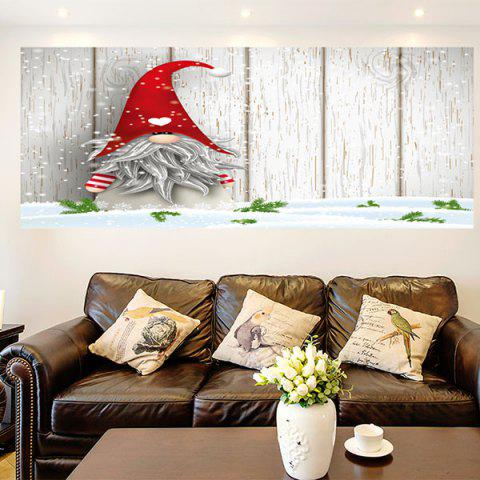 Little Santa Clause Multifunction Removable Wall Art Painting - coloré 1PC:24*71 INCH( NO FRAME )