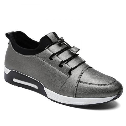 Low Top PU Leather Casual Shoes - FROST 40