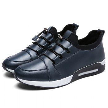 Low Top PU Leather Casual Shoes - BLUE 43