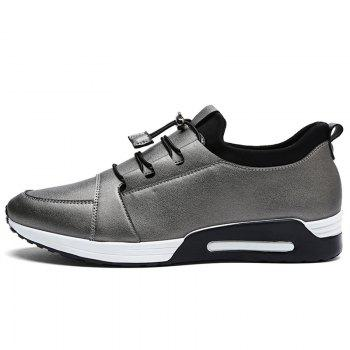 Low Top PU Leather Casual Shoes - FROST 42