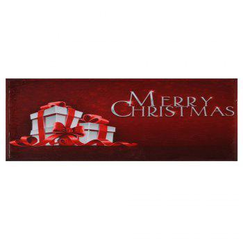 Merry Christmas Gift Print Skidproof Bath Mat - W24 INCH * L71 INCH W24 INCH * L71 INCH