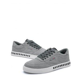 Letter Color Block Stitching Skate Shoes - GRAY 41
