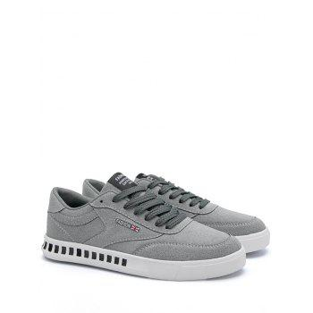 Letter Color Block Stitching Skate Shoes - GRAY GRAY