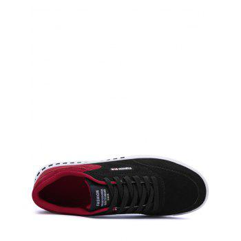 Letter Color Block Stitching Skate Shoes - RED/BLACK 42