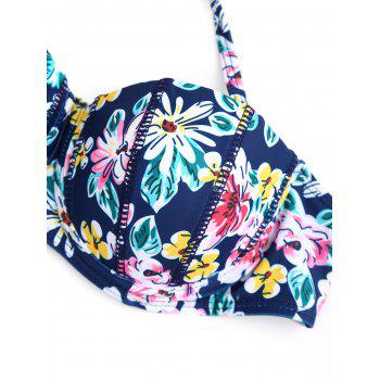 Ensemble de bikini à fleurs push-up - multicolorcolore L