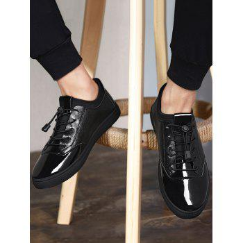 Tie Up Low Top Chaussures Casual - Noir 43
