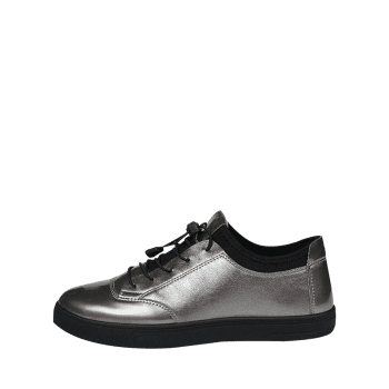 Tie Up Low Top Bright Color Casual Shoes - GUN METAL 42