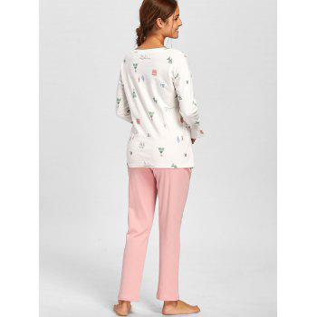 Side Slit Printed PJ Set - M M