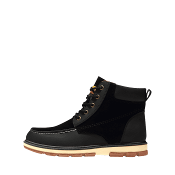 Color Block Moc Toe Ankle Boots - BLACK BLACK
