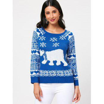 Raglan Sleeve Pullover Sea Bear Sweater - ONE SIZE ONE SIZE