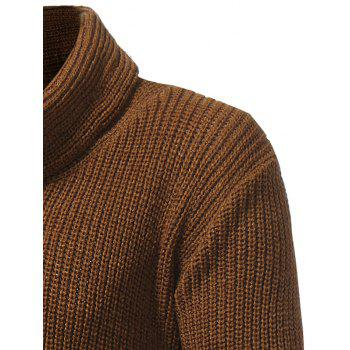 Drawstring Cowl Neck Pullover Sweater - CAMEL CAMEL