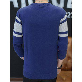 Crew Neck Stripe Best 78 Pattern Sweater - 3XL 3XL