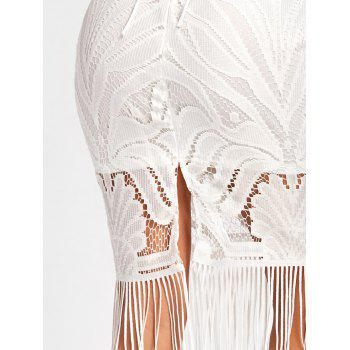 Lace Backless Fringe Cami Dress - XL XL