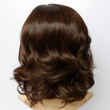 Short Side Parting Towheaded Wavy Synthetic Wig - LIGHT BROWN LIGHT BROWN