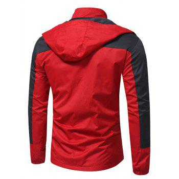 Hooded Color Block Zip Up Technical Jacket - XL XL