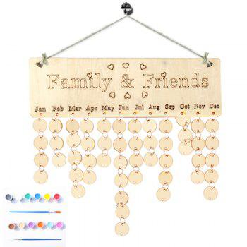 DIY Colorful Wooden Family And Friends Birthday Calendar -  ROUND
