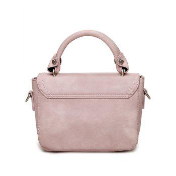 Stitching Metal Tote Bag -  PINK