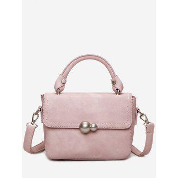 Stitching Metal Tote Bag - PINK PINK