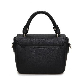 Stitching Metal Tote Bag - BLACK