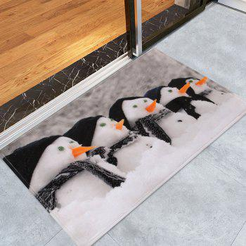 Christmas Snowman Print Bathroom Antislip Rug - GRAY GRAY