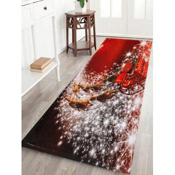 Christmas Sled Print Antiskid Bath Rug - RED RED