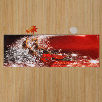 Christmas Sled Print Antiskid Bath Rug - RED W16 INCH * L47 INCH