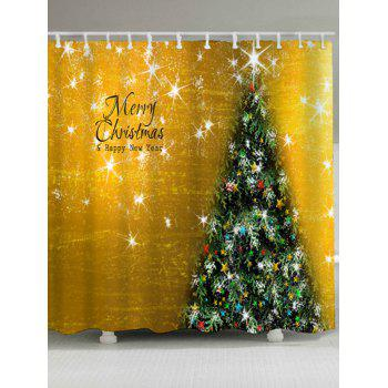 Christmas Tree Waterproof Bath Curtain - GOLDEN GOLDEN