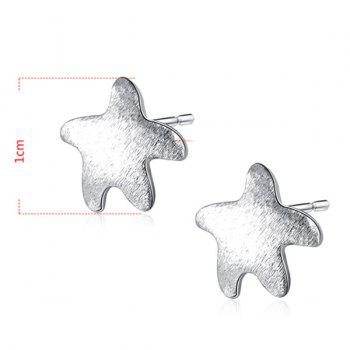 Starfish Sterling Silver Stud Tiny Earrings -  SILVER