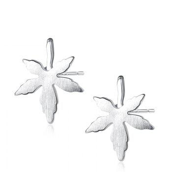 Sterling Silver Maple Leaf Earrings - SILVER SILVER