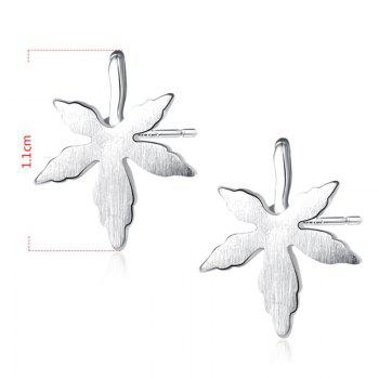 Sterling Silver Maple Leaf Earrings -  SILVER