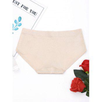 Seamless Mid Rise Panties - COMPLEXION M
