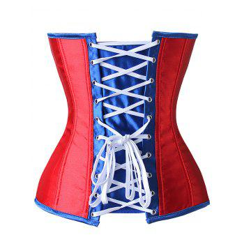 American Flag Patriotic Corset Top - RED 2XL