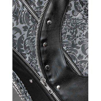 Zip Up Underbust Corset with Chain - M M