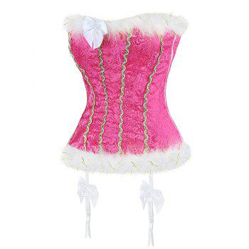 Faux Fur Trim Corset Top - S S