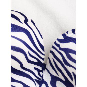 Soutien-gorge Push-Strapless Zebra Print Push Up - Bleu 85B