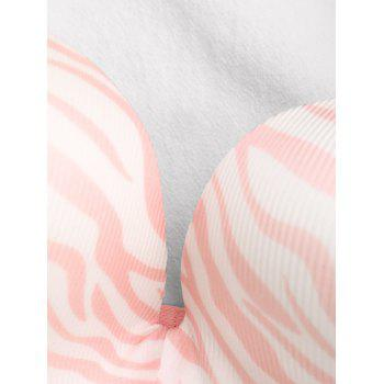 Soutien-gorge Push-Strapless Zebra Print Push Up - Rose Clair 80B