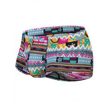 Pouch 3D Ethnic Geometric Print Trunk - S S